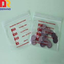 Custom clear zip bags / plastic jewelry bags