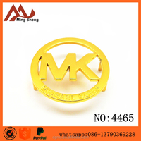 brand m k logo plate for handbags
