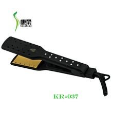 professional wet and dry hair straightener flat iron with rhinestones and LED light