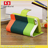 Hot Hit Contrast Painting Wallet Stand PU Leather Case For iPhone 5 5S