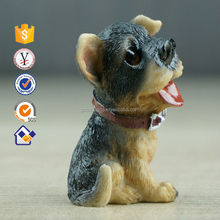 Life size 17cm~23cm Nicely resin dogs decorative outdoor Resin Bully/doberman dog statues
