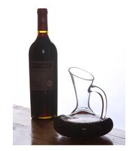 Borosilicate pyrex art hand blown colored clear glass wine decanter bulk glass decanter