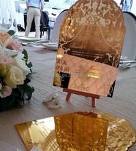 Mirror acrylic invitation for wedding