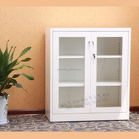 small vertical filing glass swing door steel cabinet/ camera storage cabinet