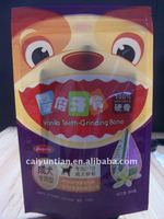 cute dog food packaging bag Teeth Grinding Bone packaging bag for dog or cat