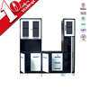 Luoyang modular kitchen cabinet design / self assembly steel kitchen cabinet with MDF countertop