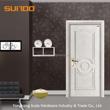 การออกแบบใหม่ล่าสุด100%ประตูไม้ที่เป็นของแข็งประตูภายในประตูห้อง