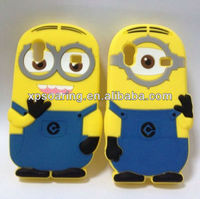 3D minions silicone case cover for Samsung Galaxy Ace S5830