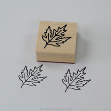 Custom logo kids DIY craft rubber wooden stamp