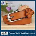 Mejor cinturón de flores mesón de cuero para mujer