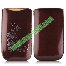 Flowers Pattern PU Leather Pouch Bag for iPhone 6 4.7 inch