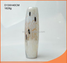 Good quality best-Selling ripple pattern glass vase