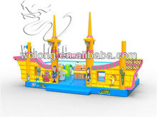 best children's outdoor inflatable jumping castle at low price / Pirate ship inflatable Bouncer