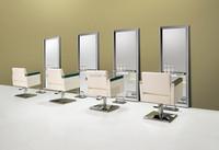 2015 Beautiful salon combination Furniture/ kawaii Hair styling chairs+stainless steel mirror station