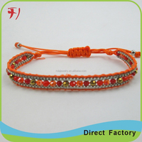 Crazy agate make braided leather bracelet for gift