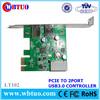 Top selling pci serial port card USB3.0 2port converter card