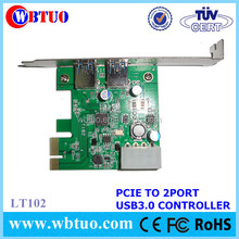 Top selling pci serial port card USB3.0 2port converter card
