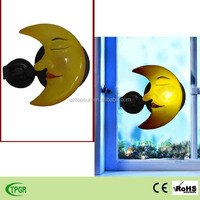 Polyresin moon solar indoor night light for home decoration