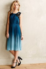 Dip-dyed silky polyester; polyester lining Midi Dress