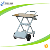 5 in 1 four wheel platform hand truck/ hand pull trolley / dolly /instrument tool cart