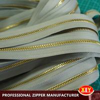 2015 hot sale custom length gold corn teeth metal zipper rolls