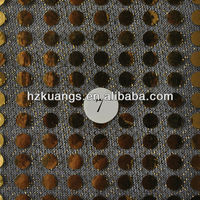 Black gold sequin fabric/gold sequin fabric/gold sequined fabric