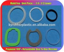 Food Grade Silicone Rubber Seal Gasket Manufacturer / PVC Pipe Silicone Rubber Gasket / Custom Shape Silicone Gasket