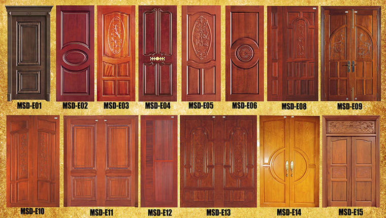 Italian style fire rated wooden door single door design for House room door design