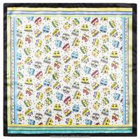 60cm*60cm Japan and South Korea cartoon cat kitten painting pattern Bohemian Ladies silk square scarves 60cm