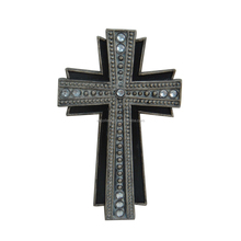 2015 New design layered crucifix with acrylic; Resin and acrylic wall cross catholic religious items