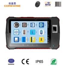 Quad-core South America 3G Rugged qr code scanner, fingerprint reader android tablet rfid reader