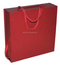 hat paper boxes with handles,custom design red drawer paper box