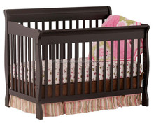 NEW 3IN1 BABY SLEIGH COT + MATTRESS + TODDLER BED WALNUT