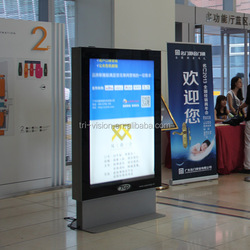 aluminium frame of Indoor LED arylic sheet light box advertising equipment