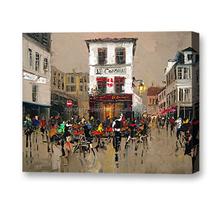 Impressionist modern knife oil painting Paris street painting