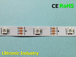 RGBW 5050 LED 30LED/mStrip drived by WS2811, addressable with