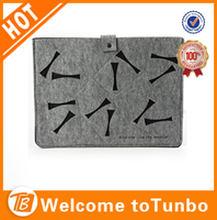 Wholesale 3mm felt tablet protective case for IPAD