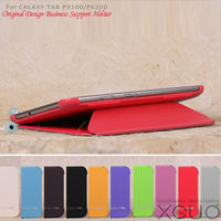 Hot sale leather case smart cover for samsung p6200 and P3100 galaxy tab 7 plus