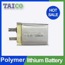 Storage Li-polymer 3.7v 250mah Battery for Electric Watch