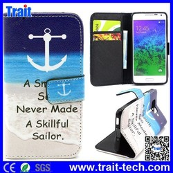 Wholesale Cross Texture Leather Case for Samsung Galaxy Alpha SM-G850F SM-G850A Flip Cover
