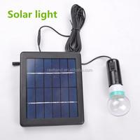 IP55 white color bulb light 6V 3W solar panel solar light kits 4a rechargerable battery power super bright led light