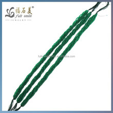 Wuzhou Wholesales 2mm faceted round gemstone green agate beads