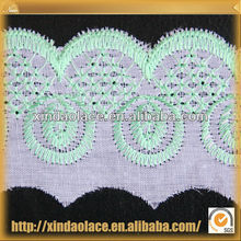 Newest polyester 2012 new design embroidery flower lace