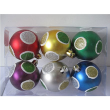 Red ,gold,green ,purple,blue ,silver Matte Christmas balls tree ornament with designs