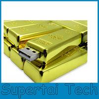 Hot selling fashion design gold bar USB Flash Drive 16GB