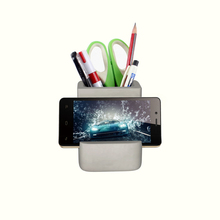 multi-purpose Concrete Desk Accessories concrete pen and phone container/home and office decoration