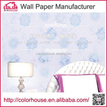 waterproof decoration self adhesive flower printing wall paper