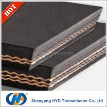 Din standard pvc solid woven fire retardant conveyor belt