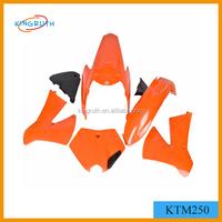 High quality ABS material KTM250 pit bike plastic kits