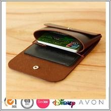 Custom Slim Genune Leather Card Case Bag Coin Credit Card Sleeve